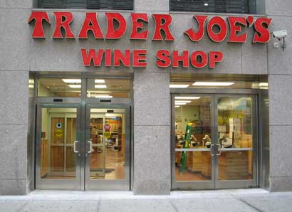 No food for sale in this NYC Trader Joes. No wine for sale at the Trader Joes next door.
